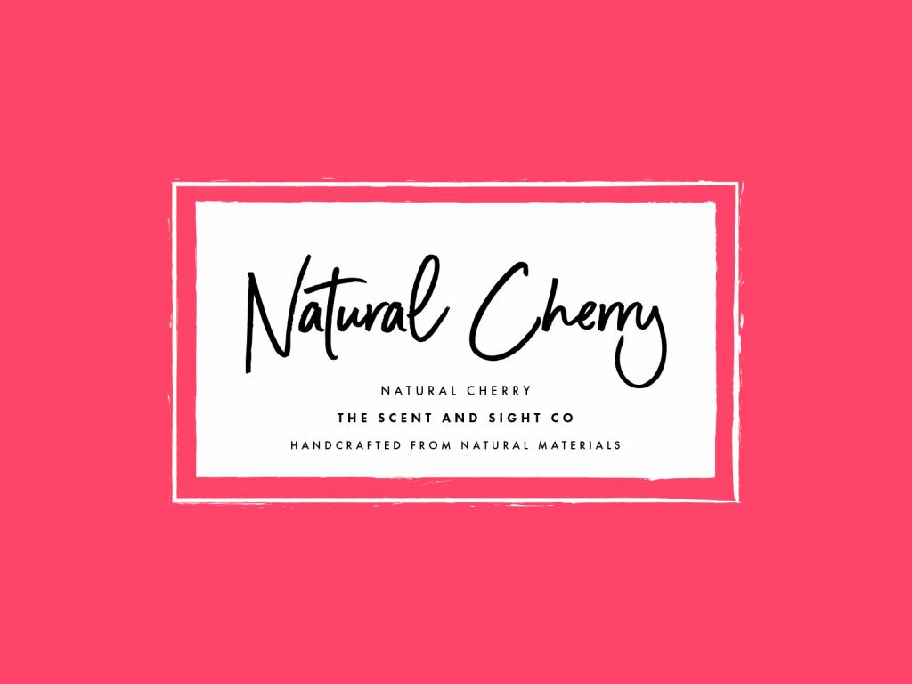 Natural Cherry Candle Mockup